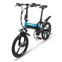 Buy cheap Integrated Wheel 20 Inch PAS Folding E Bike Full Suspension Frame from wholesalers