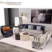 Buy cheap Multifunctional Furniture Contemporary Hotel Lobby Sofa with Leather Upholstery from wholesalers