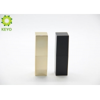 Buy cheap Square Black Gold Color Plastic Empty Magnetic Lipstick Tube Container 5g from wholesalers
