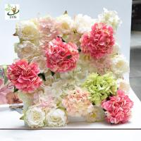 Buy cheap UVG wonderful silk rose wall weddings with fake penoy flowers for wedding Décor CHR1143 from wholesalers