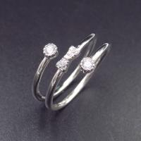 Buy cheap OEM 925 Silver Cubic Zirconia Rings / 925 Sterling Silver Engagement Ring from wholesalers