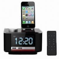 Buy cheap High-definition Speaker for iPhone, with Alarm Clock/FM Radio, Charging for iPad, iPod, Smartphone from wholesalers