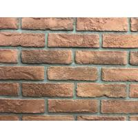 Antique Thin Veneer Outdoor Brick Tiles 200 X 50 X 18mm For Exterior Wall Manufactures