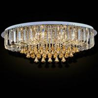 Custom Round Luxury Crystal Ceiling Light With Glass Pearl Drop for Home / Living room Manufactures