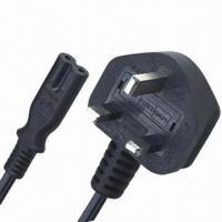 Buy cheap UK Standard Power Cord with BS Non-dismountable British Type Plug and Built-in Fuse from wholesalers