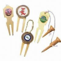 Buy cheap Promotional Green Divot Tool and Ball Markers, Customized Designs are Accepted from wholesalers