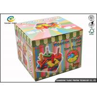 Buy cheap Cartoon Cute Corrugated Paper Gift Packaging Tuck Storage Boxes Custom Made With Handle from wholesalers