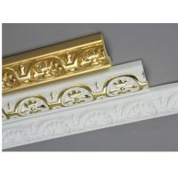 Buy cheap Golden Decorative Polyurethane Crown Moulding Belt Line Hand Painted from wholesalers
