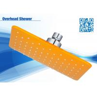 Colorful Square Overhead Shower Head Chromed ABS With Brass , Plastic Ball Manufactures