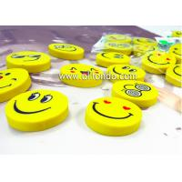 Wholesale PVC cartoon cute mini round emoticons eraser for promotional gifts from china suppliers