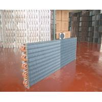 Buy cheap Refrigeration Finned Tube Condenser Copper Tube Aluminum Foil Golden Color from wholesalers