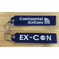 Buy cheap Continental Airlines Ex-Con Fabric Embroidered Key Tags Wholesale Retail and Customize from wholesalers