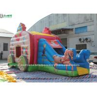 Buy cheap Pink Princess Carriage Inflatable Jumping Castle Slide With Lead Free Material product