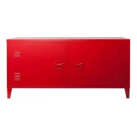 Buy cheap Red Metal Wall dustproof TV Hall Cabinet Design from wholesalers