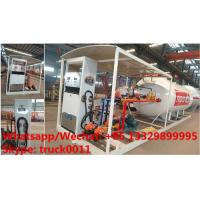 China China high quality and lower price 2.5tons-10tons mobile skid lpg gas refilling station with auto lpg gas dispenser(with on sale