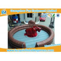 China Funny Large Inflatable Games Inflatable Mechanical Bull Riding Machine Games With Digital Printing on sale