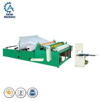 Wholesale Automatic toilet paper rewinding embossing perforating machine for making toilet paper small roll from china suppliers
