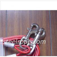 Buy cheap Steel red pet rope dog leash 10 feet , 40 feet for Running from wholesalers