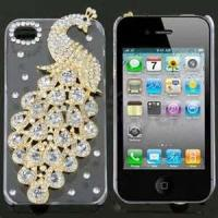 Buy cheap colourful Durable Soft PC Diamond Peacock Design Cell Phone Cases for iPhone 4S from wholesalers