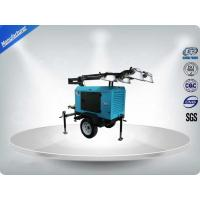 Buy cheap Contruction Emergency Mobile Light Tower , Trailer Mounted Light Towers Water Cooled from wholesalers