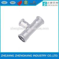 Buy cheap 2015 high quality press fitting Sanitary pipe fitting reducing tee from wholesalers