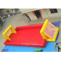 Buy cheap 0.45mm - 0.55mm PVC Tarpaulin Inflatable Sports Games , Double Tube Football Field Sports Equipment from wholesalers