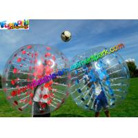 Wholesale Colorful TPU Inflatable Bumper Ball , Zorb Bubble Soccer Ball For Humans from china suppliers