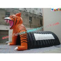 Buy cheap Custom Inflatable Party Tent , Tiger Tunnel Tent For Advertising from wholesalers