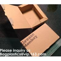 Buy cheap Disposable F Flute Corrugated Kraft Paper Food Tray For Hot Dog Burger Fries Triangle Packaging Pizza Box, Bagease, Bagp from wholesalers