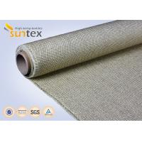 Buy cheap 800C Vermiculite Coated High Temperature Fiberglass Cloth Heavy Duty Welding Protection from wholesalers