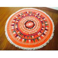 Buy cheap Super water absorbability microfiber round beach towel manufacturer wholesale from wholesalers