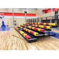 Buy cheap Manually Operated Telescopic Tribunes With Anti - Slip Plywood Deck / Polymer Bench from wholesalers