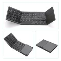 Wholesale 3 Level Foldable Bluetooth Touchpad Keyboard for ipad ios 13.0 Android Windows Folding keyboard from china suppliers