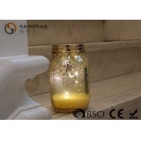 Wholesale Gold Color Jam Jar Garden Lights , Glass Jar Fairy Lights For Home Decoration from china suppliers