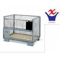 Buy cheap warehouse wire container storage cage,steel cage,high quality flodable stacking cage from wholesalers