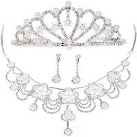 Imperial Crown Jewelry Necklace Bride Wedding Accessories for Decoration Manufactures