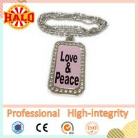 Customized LED dog tag necklace for kids with your own design Manufactures