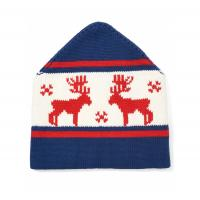 Buy cheap Ski Jacquard Knit Beanie Hats Deer Pattern 50 % Merino Wool 50% Cotton Material from wholesalers