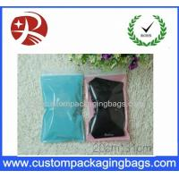 Buy cheap Front Transparent custom zipper pouches pack clothes Back Side PINK Color from wholesalers