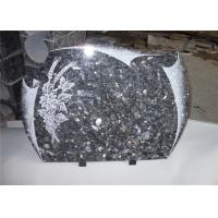 Buy cheap Heart Shape Granite Headstones For Graves , Engraved Memorial Stones Flower Pigeon Pattern from wholesalers