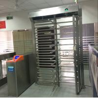 Reliable Personal Safety  Brushed Industrial Turnstile RFID Card Reader Full Height Turnstile Manufactures