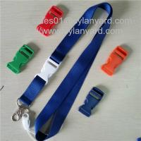 Buy cheap Dyed coloured polyester neck lanyards with dyed colored plastic release buckle, from wholesalers