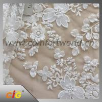 Buy cheap Cotton Nylon Spandex  Embroidered Lace Trimming Fabric For Garment / DIY Craft from wholesalers