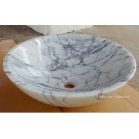 Wholesale Natural White Carrara Round Stone Sinks from china suppliers