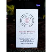 Buy cheap Simple Letterpress Business Cards 400gsm White Pure Cotton Paper For Real Estate from wholesalers
