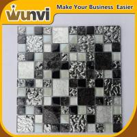 Wholesale Glass Mosaic Tiles Craft Design Black and White For Kitchen Decoration from china suppliers