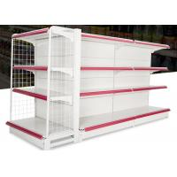Buy cheap Iron Steel 4 Layers Supermarket Display Racks With Double Sided / Single Sided from wholesalers