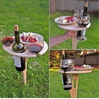 Buy cheap Outdoor Portable and Foldable table Outdoor Camping Foldable Wooden Park Picnic Wine Table Garden from wholesalers