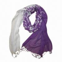 Buy cheap Printed Scarves, Sorts Dying and Printing, Available in Various Colors from wholesalers