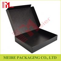 Buy cheap Black color Litho laminated Mailer style box Hinged Lid corrugated Box for delivery from wholesalers